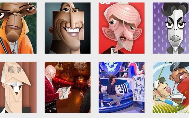 Virtual caricature art